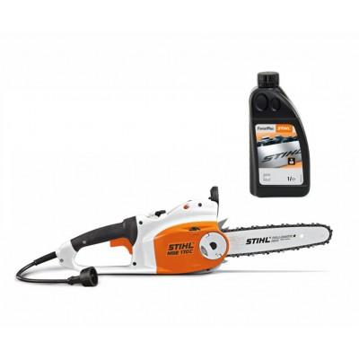 Електрически трион STIHL MSE 170 C-B + 1л. масло за вериги Forest Plus