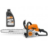 Моторен трион STIHL MS 180 C-BE+1л масло за вериги Forest Plus